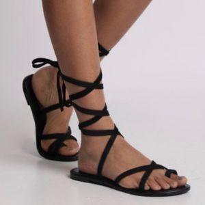 Steve Madden Black Bondi Sandals.